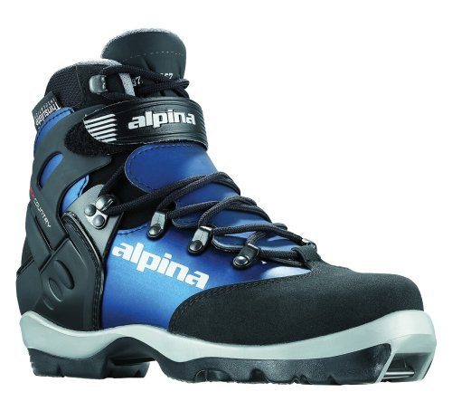 Alpina Women's BC-1550 Eve Back-Country Nordic Cross-Country Ski Boots, for use with NNN-BC Binding, Black/Blue, 36