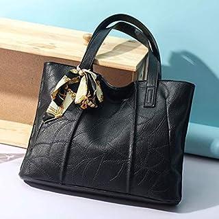 HAWEEL Anti-Theft Classic Retro Messenger Travel Leisure Fashion Silk Scarf Shoulder Bag Handbag (Black) Sling Crossbody Mini Purse One Size (Color : Black)