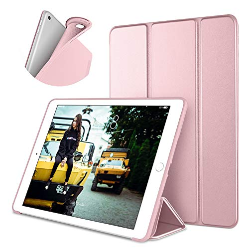 DTTO Case for iPad Mini 4,(Not Compatible with Mini 5th Generation 2019) Ultra Slim Lightweight Smart Case Trifold Stand with Flexible Soft TPU Back Cover for iPad mini4[Auto Sleep Wake],Rose Gold