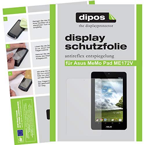 dipos I 2X Schutzfolie matt kompatibel mit Asus MeMo Pad ME172V Folie Bildschirmschutzfolie