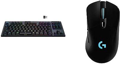 【セット買い】Logicool G テンキーレス ゲーミングキーボード 無線 G913 GLスイッチ クリッキー LIGHTSPEED ワイヤレス Bluetooth LIGHTSYNC RGB G913-TKL-CKBK & ゲーミングマウス...