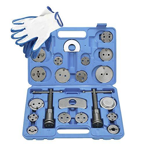 FreeTec 22 tlg. Universal Bremskolbenrücksteller Set Bremssattel Kolben Wind Zurück Tool Kit Bremse Instandsetzung Werkzeug Bremskolben