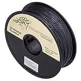 PLA con fibra de carbon es resistente y rígido: ideal para drones Total 0,8 kg de filamento de 1,75 mm Temperatura de impresión: 200-220°C Temperatura de la cama: ambiente Dificultad de impresión: Mediana (abrasiva, boquilla de acero recomendada)
