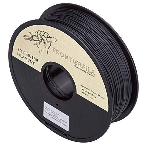 Fibera de carbon PLA 0.8kg 1.75mm negro - Filamento para impresora 3D - FrontierFila