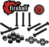 Fireball Dragon Black Stainless Steel Skateboard Hardware (Button Allen, 1.0')