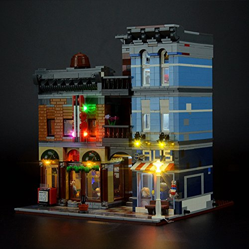 LIGHTAILING Licht-Set Für (Creator Detektivbüro) Modell - LED Licht-Set Kompatibel Mit Lego 10246(Modell Nicht Enthalten)