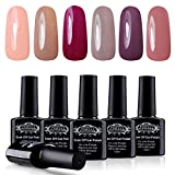 Perfect Summer Gel Nail Polish Soak Off 6 Colors Gel Varnish UV LED Manicure - Gel Polish Starter Kit 10ML 008