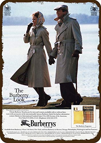 Laptopo 1984 Burberrys of London Trenchcoats & Cologne Vintage Look Replica Metall