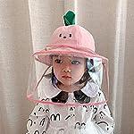 Keleily Sombrero Protector Bebe con Pantalla de Protección Facial, Sombrero Protector Facial Niños S... #3