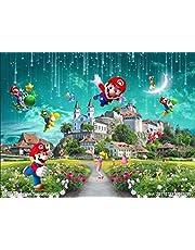 Custom Wallpaper Super Mario Kart Fotobehang Cartoon Game Muurschildering Kinderkamer Silk Art Room Decor Slaapkamer Woonkamer