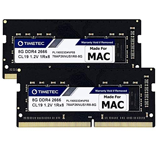 Timetec 16GB KIT(2x8GB) Compatible for Apple DDR4 2666MHz for Mid 2020 iMac (20,1 / 20,2) / Mid 2019 iMac (19,1) 27-inch w/Retina 5K Display, Late 2018 Mac Mini (8,1) PC4-21333 / PC4-21300 MAC RAM