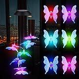 Campanilla de Viento Solar, Cambio de Color LED Carillón de Viento Lámpara Impermeable, ...