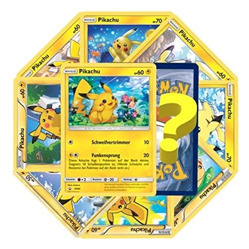 10 Pikachu Karten inkl. 1 Reverse Holo - Pokemon - Deutsch - Cardicuno