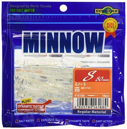 エコギア(Ecogear)ワームミノーS3-1/2インチ#323北陸クリアホロ