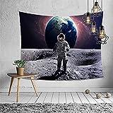 NTtie Tapiz Dormitorio Sala Dormitorio Decoración Tapiz Multifuncional de Astronauta Impreso para Colgar en la Pared