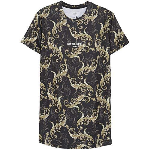 Sixth June Herren T-Shirts Flower V2 schwarz M