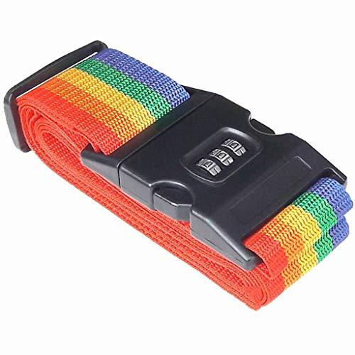 LLXLD Bagageriem anti-diefstal vergrendeling riemen koffer met slot verpakking nieuwe roeien bandages semi-automatische veiligheidsgordel