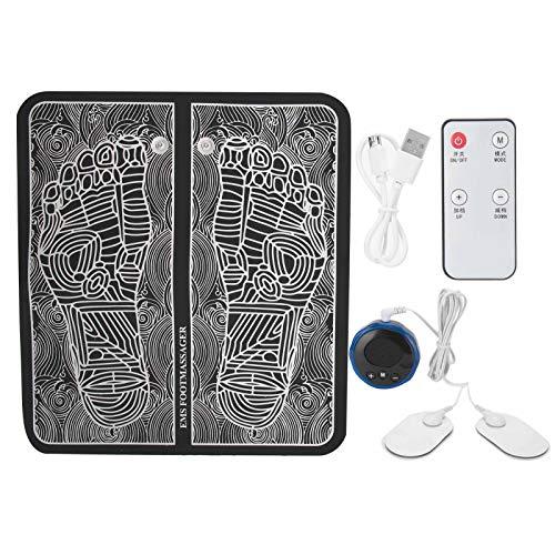 EMS Foot Massager Almohadilla eléctrica para masaje de pies, EMS Foot Massager Arrugas Portátil para la circulación sanguínea Alivio del dolor muscular con 6 modos y 9 engranajes