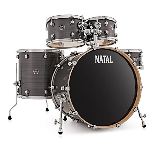 Natal Arcadia LA Rock Birch Drum Kit Shell Pack, Grey Strata