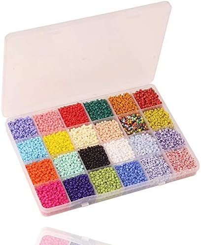 wangtao Max 60% Louisville-Jefferson County Mall OFF Glass Seed Beads Small Pony Stripe Assorted Kit w