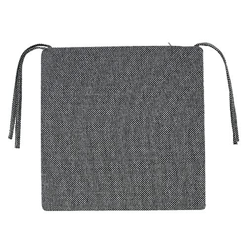 Stuhlkissen mit Bänder, rutschfeste Sitzkissen Bequem Und Atmungsaktiv Quadratisches Sitzauflage Einfach Zu Säubern Stühl Pad für Stühle Bänke Haus Garten Terrassens-40x40x5cm (grau)