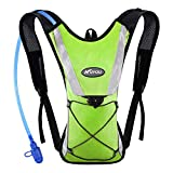 KUYOU Hydration Pack with 2L Hydration Bladder Water Rucksack Backpack Bladder Bag Cycling Bicycle Bike/Hiking Climbing Pouch (Green)