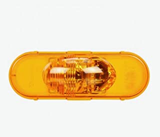 TRUCK-LITE 60421Y 60 Series,LED,Yellow Oval,6 Diode,Side Turn Signal,Fit 'N Forget S.S.12V