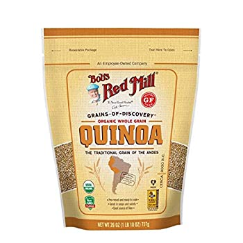 Bob s Red Mill Resealable Organic White Quinoa 26 Ounce  Pack of 4