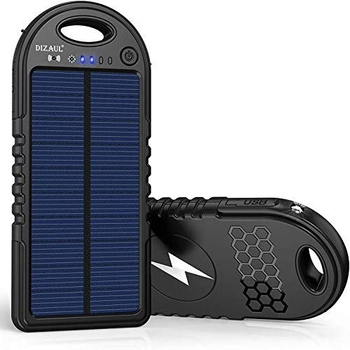 Solar Charger, 10000mAh Wireless Solar Power Bank, 18W Power Delivery USB C Charger, Type C Input & Output, QC 3.0 & PD Fast Portable Charger Compatible with iPhone, Samsung and More
