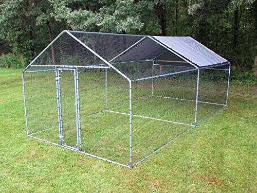 Pinnon Hatch Farms LLC Chicken Run 10x10/20/30 ft. Movable Coop Poultry Dog Rabbit...