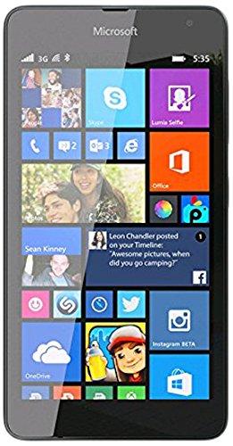 "Microsoft Lumia 535 - Smartphone Libero (5"", appareil photo 5 MP, 8 Go, 1,2 GHz, 1 Go de RAM, Windows), (importé), Nero"