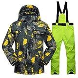 SR-Keistog Hombres Invierno al Aire Libre a Prueba de Viento Impermeable Pantalones de Nieve térmicos Conjuntos esquí y Snowboard Chaqueta de esquí Color 08 L