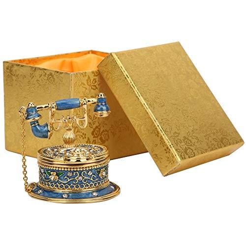 Oumefar Modelo de teléfono Antiguo de la decoración del Arte del Esmalte de la Vendimia de la baratija de la aleación de Zinc para el hogar