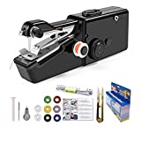 Handheld Sewing Machine, Mini Portable Handy Sewing Machine, Electric Handheld Sewing Machine Quick Handy Stitch Fabric Clothing Kids Cloth Cutains Pet Clothes DIY Home/Travel Use(Black)