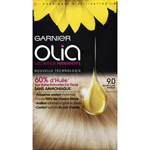 Garnier - Olia - 9.0 Blond clair radieux, Coloration permanente - La boîte de 174ml - (for multi-item order extra postage cost will be reimbursed)