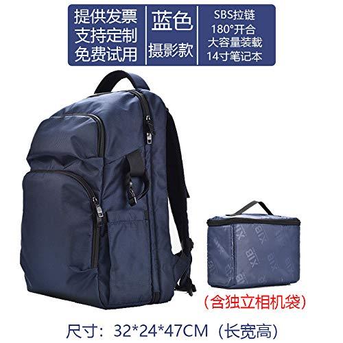 Yichengshangmao - Mochila multifunción para hombre, color Bleu (avec sac d