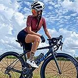 Triatlón para mujer Ciclismo Jersey Sportswear transpirable Ciclismo Jersey Ciclismo Equipo Uniforme Traje de manga corta (Color : 18, Size : XL)