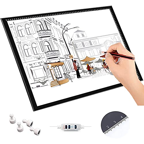 Tableta De Luz LED, Caja De Luz De Seguimiento Ajustable Para Dibujar, Tablero De Luz Ultradelgado 8 Mm, Cable De Alimentación USB, Almohadilla Regulable Para Dibujar, Dibujar, Dibujo Artístico,A2
