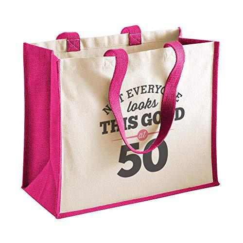50th Birthday Keepsake Gift Vintage Bag for Women Novelty Shopping Tote