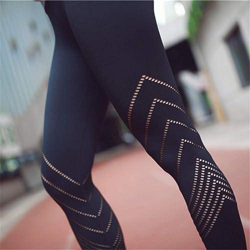 Yundongyi Pantalon de Sport Rose pour Femmes engrener Yoga Leggings Pantalon d'entraîneHommest Taille grand Workout FonctionneHommest Tight Creux Out Pantalons
