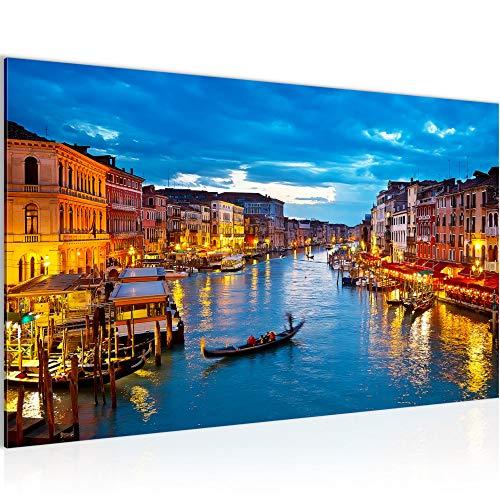 Venedig Italien Bild Modern Wandbilder - 100{58321686ec1a3af9d2deac4c41eea8065b010e282a1c30629e3f2682330853ad} Made In Germany - Wandbilder Stadt Blau Gold 6043a