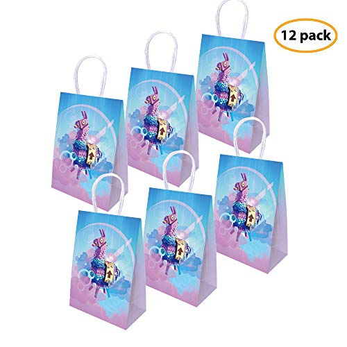 yizeda Juego Party Bags Goody Favor Bags Llama Llama Fiesta de cumpleaños Fiesta temática Suministros Favors-12 Pack