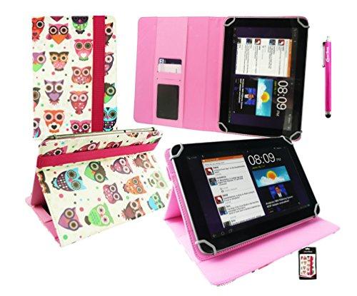 emartbuy Hot Rosa Eingabestift + HP Pro Tablet 608 G1 Windows 8 Zoll Tablet Universalbereich (8-9 Zoll) Multi-ColouRot Eules Leder Folio Cover Wallet Hülle Schutzhülle mit Kartensteckplätze
