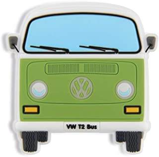 BRISA VW Collection - Volkswagen Samba Bus T2 Camper Van Rubber Magnet (Front/Green)