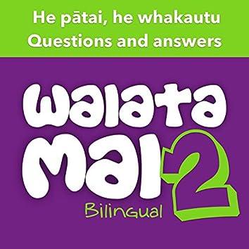 Waiata Mai 2 - He pātai, he whakautu (Questions and answers - Bilingual)