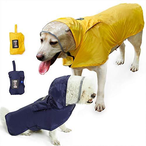Cappotto impermeabile per cani, regolabile e facile da indossare, resistente alla pioggia/acqua, 7 taglie da XS a XXXL, adatto per ogni cane