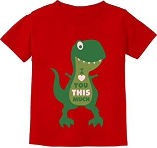 TeeStars - Mother's Day I Love You This Much T-Rex Toddler Kids T-Shirt