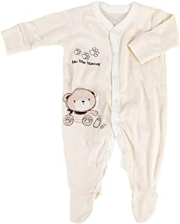 Lion Bear Unisex Baby Romper,100% Organic Cotton Baby Onesies Long Sleeve Clothes,0-12 Months,1 Pack.