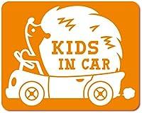 imoninn KIDS in car ステッカー 【マグネットタイプ】 No.37 ハリネズミさん (オレンジ色)