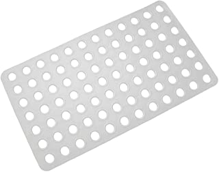 Colorful Star Bathtub Mat Non-Slip Big Drain Hole with Suction Cups Extra Soft Shower Mats for Bathroom Square 27 x 15 Inch White